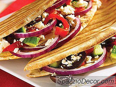 Greek Veggie Panini