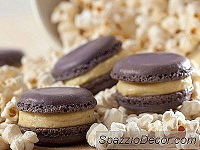 Popcorn Pastry Cream Macarons