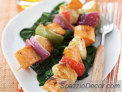 Søde Kartoffel, Kylling &Amp; Veggie Skewers