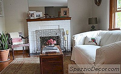 Renovación De La Habitación: Aligerar Una Sala De Estar Con Una Chimenea Pintada